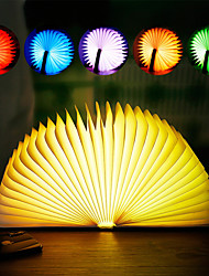 cheap -BRELONG® 1pc Book LED Night Light Warm White / White / Red USB Color-Changing / Bedside / Atmosphere Lamp 5 V