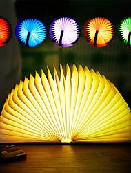 Недорогие -brelong 1 шт. книга rgb ночь свет dc5v синий / золотой / красный / желтый / коричневый