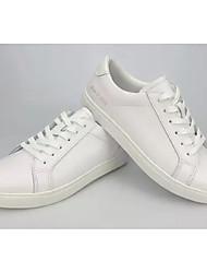 """Недорогие -Жен. Комфортная обувь Кожа Весна & осень На каждый день / Стиль """"Школьная форма"""" Кеды На плоской подошве Белый"""