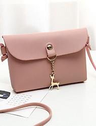 baratos -Mulheres Bolsas PU Telefone Móvel Bag Côr Sólida Vermelho / Rosa / Cinzento