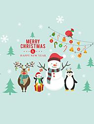 Недорогие -Декоративные наклейки на стены - Простые наклейки / Праздник стены стикеры Рождество / Праздник Детская / На открытом воздухе