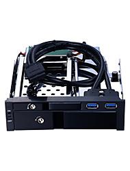 baratos -Unestech Gabinete do disco rígido Indicador LED / HDD Compatível / Instalação automática Aço Inoxidável / Liga de alumínio e magnésio USB 3.0 ST7224UB