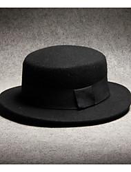 Недорогие -Муж. Федора Полиэстер,Однотонный Черный