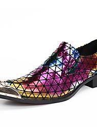 Недорогие -Муж. Официальная обувь Наппа Leather Весна Английский Туфли на шнуровке Доказательство износа Градиент Цвет радуги / Для вечеринки / ужина