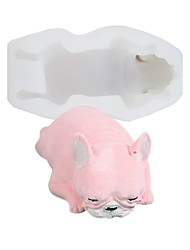 baratos -Ferramentas bakeware Silicone Fofo / Nova chegada / 3D Bolo / para bolo Rectângular Sobremesa decoradores 1pç