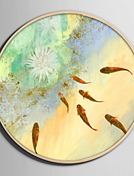 Недорогие -Холст в раме / Набор в раме - Животные / Цветочные мотивы / ботанический Пластик Иллюстрации