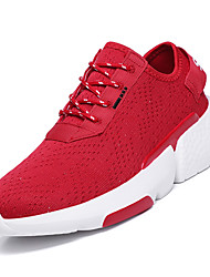 abordables -Homme Chaussures de confort Tricot Automne Sportif Chaussures d'Athlétisme Marche Augmenter la hauteur Blanc / Noir / Rouge