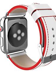 abordables -Acier Inoxydable Bracelet de Montre  Sangle pour Apple Watch Series 3 / 2 / 1 Noir / Rouge 23cm / 9 pouces 2.1cm / 0.83 Pouces