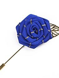 Недорогие -Муж. Ретро Броши Розы Flower Shape Простой Классический Брошь Бижутерия Серый Светло-Розовый Тёмно-синий Назначение Свадьба Для вечеринок