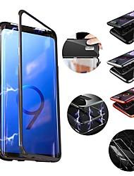 Недорогие -Кейс для Назначение SSamsung Galaxy S9 Plus / S9 Защита от удара / Магнитный Кейс на заднюю панель Однотонный Твердый Металл для S9 / S9 Plus / S8 Plus