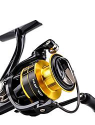 baratos -Molinetes de Pesca Molinetes Rotativos 5.2:1 Relação de Engrenagem+11 Rolamentos Orientação da mão Trocável Pesca de Mar / Isco de Arremesso / Pesca de Carpa