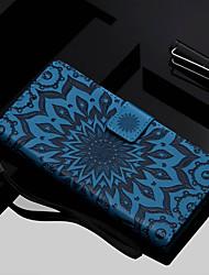 Недорогие -Кейс для Назначение Huawei Y9 (2018)(Enjoy 8 Plus) / Y6 (2018) Кошелек / Бумажник для карт / со стендом Чехол Цветы Твердый Кожа PU для Y9 (2018)(Enjoy 8 Plus) / Huawei Y6 (2018) / Huawei Y6
