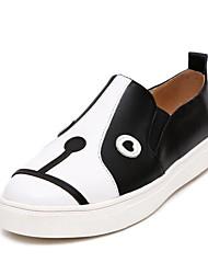 abordables -Femme Chaussures de confort Cuir Nappa Automne Mocassins et Chaussons+D6148 Talon Plat Bout fermé Noir