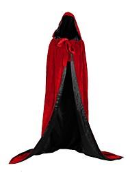 Недорогие -ведьма Вампиры Пальто Косплэй Kостюмы Костюм для вечеринки Костюм Новогоднее платье Универсальные Взрослые Накидка Хэллоуин Рождество Хэллоуин Карнавал Фестиваль / праздник Satin Бархат Инвентарь