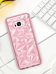 baratos -Capinha Para Samsung Galaxy S8 Plus / S8 Antichoque / Galvanizado / Ultra-Fina Capa traseira Sólido Macia TPU / PC para S8 Plus / S8