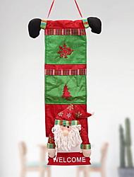 baratos -Sacos de Presentes / Enfeites de Natal Natal Tecido Não-Tecelado Quadrada Novidades Decoração de Natal
