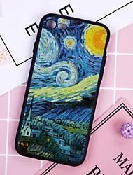Недорогие -Кейс для Назначение Apple iPhone X / iPhone 8 Plus Защита от пыли Кейс на заднюю панель Масляный рисунок Мягкий ТПУ для iPhone X / iPhone 8 Pluss / iPhone 8