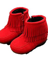 Недорогие -Девочки Обувь Полиуретан Наступила зима Ботильоны Ботинки для Дети Черный / Красный / Верблюжий