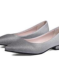 Недорогие -Жен. На плокой подошве Комфортная обувь На низком каблуке Полиуретан На каждый день Осень Серый / Розовый