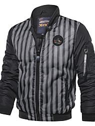 Недорогие -Муж. Куртка Классический / Панк & Готика - Однотонный Вышивка