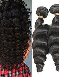 Недорогие -2 Связки Индийские волосы Свободные волны 10A человеческие волосы Remy Накладки из натуральных волос 10-26 дюймовый Ткет человеческих волос Мягкость Лучшее качество Новое поступление
