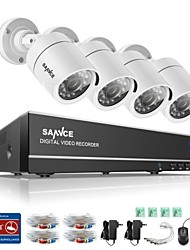 cheap -SANNCE® 4CH 4PCS 720P HD Camera 1080N HDMI VGA DVR & Waterproof Home Surveillance Security System IR Night Vision