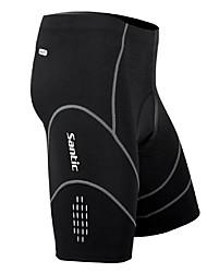 Недорогие -SANTIC Муж. Велошорты с подкладкой - Черный Велоспорт Шорты / Шорты с защитой, Дышащий, 3D-панель, Быстровысыхающий Спандекс, Кулмакс® В полоску / Эластичность / Продвинутый уровень