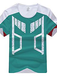 billiga Cosplay till vardagen-Min hjälte Academy Battle For All / Boku ingen hjälte Academia Midoriya Izuku T-shirt Polyester / Bomull Blandning Till Unisex