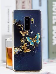 baratos -Capinha Para Samsung Galaxy S9 Plus / S9 Transparente / Estampada Capa traseira Borboleta Macia TPU para S9 / S9 Plus / S8 Plus