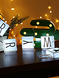 Недорогие -1,5-метровые световые индикаторы 10 светодиодов белый / теплый белый декоративный aa батареи питание 1 комплект