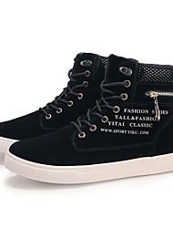 Недорогие -Муж. Комфортная обувь Синтетика Осень Кеды Черный / Красный / Хаки