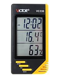Недорогие -victor vc330 бытовой цифровой переносной термометр и гигрометр с часами и календарем