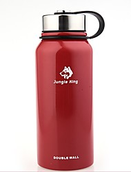 baratos -Jungle King Copo para Acampamento retenção de calor Aço Inoxidável Ao ar livre para Campismo Preto / Vermelho / Verde