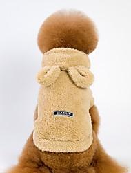 preiswerte -Hunde / Katzen Kapuzenshirts / Pullover Hundekleidung Solide Grau / Braun / Rosa Velours / Kord Kostüm Für Haustiere Unisex Lässig / Alltäglich / Warm-Ups