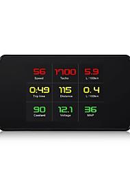 Недорогие -Factory OEM P12 Автомобиль Счётчик пробега / Датчик температуры масла / Манометр для Универсальный / Volvo / Volkswagen Sportage / Forte / Patriot измерительный прибор Красный / синий орнамент 3D