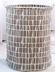 Недорогие -Ткань Круглый Новый дизайн / Cool Главная организация, 1шт Сумка / корзина для белья
