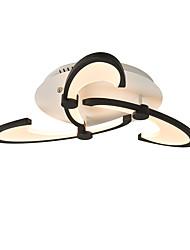 Недорогие -3-х голова современный стиль простота акрил водить потолочная лампа изгиб крюк дизайн заподлицо гостиная гостиная столовая свет светильник