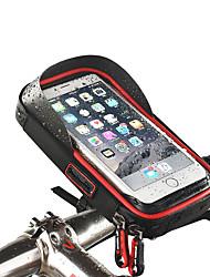 Недорогие -Wheel up Сотовый телефон сумка Бардачок на руль Сенсорный экран Водонепроницаемость Отверстие для гарнитуры Велосумка/бардачок ТПУ губка Нейлон Велосумка/бардачок Велосумка iPhone X / iPhone XR