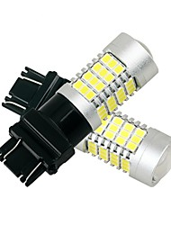Недорогие -1 пара высокая яркость света алюминиевый тепловыделение 27w привело стоп-сигнал белый цвет