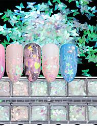 abordables -1 pcs Paillettes Style mini / Dégradé de Couleur / Meilleure qualité Cœur Arc-en-ciel Manucure Manucure pédicure Noël / Halloween / Fête scolaire Artistique / Doux