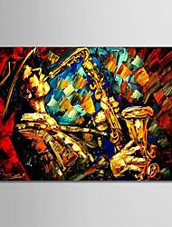Недорогие -Hang-роспись маслом Ручная роспись - Люди Modern Включите внутренний каркас / Растянутый холст