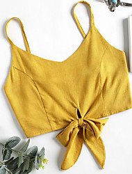 cheap -women's going out / beach tank top - solid colored strap