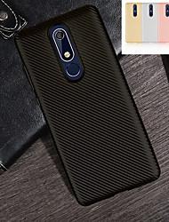 billiga -fodral Till Nokia Nokia 5.1 / Nokia 3.1 Ultratunt Skal Linjer / vågor Mjukt TPU för Nokia 9 / Nokia 8 / Nokia 7