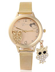 cheap -Women's Wrist Watch Quartz Chronograph Cute Lovely Stainless Steel Band Analog Bangle Fashion Gold - Gold One Year Battery Life / SSUO 377