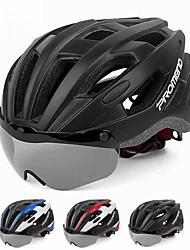 baratos -PROMEND Adulto Capacete de Bicicleta com Óculos de Proteção 16 Aberturas Resistente ao Impacto, Ventilação EPS, PC Esportes Ciclismo / Moto - Preto / Preto / Vermelho / Black / azul Unisexo