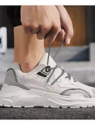 abordables -Homme Chaussures de confort Maille Automne Chaussures d'Athlétisme Course à Pied Blanc / Noir / Marron