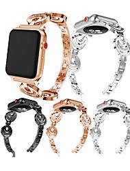 Недорогие -Ремешок для часов для Apple Watch Series 4/3/2/1 Apple Современная застежка / Дизайн украшения Металл Повязка на запястье