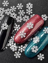 baratos -1 pcs Jóias de Unhas Estilo Mini / Melhor qualidade Flor Floco de Neve arte de unha Manicure e pedicure Natal / Festival Artistíco / Doce