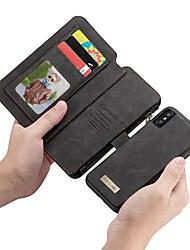 Недорогие -caseme case for apple iphone x кошелек / держатель карты / флип чехлы для тела сплошная цветная твердая кожа pu для iphone x / iphone 8 plus / iphone 8