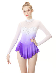 cheap -Figure Skating Dress Women's / Girls' Ice Skating Dress Violet Spandex High Elasticity Professional Skating Wear Fashion Long Sleeve Ice Skating / Winter Sports / Figure Skating